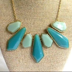 3/$30! Teal & Green Statement Necklace